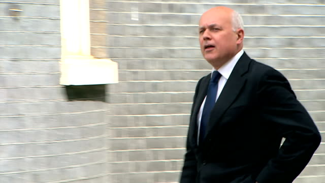 external shots of Iain Duncan Smith arriving at Number 10 Downing Street on May 11 2015 in London England