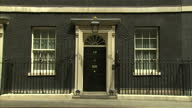 External shots of the door of Number 10 Downing Street the London residence of the British Prime Minister Downing Street Stockshots on July 21 2013...