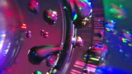 Extreme Nahaufnahme Blueray DVD-CD langsam drehst Wassertropfen