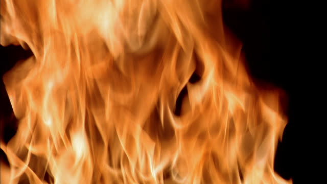 Extreme close up fire burning