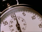 extreme close up of stopwatch