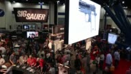 Extreme long shot of exhibition floor during the 2013 NRA Annual Meeting and Exhibits at the George R Brown Convention Center on May 4 2013 in...