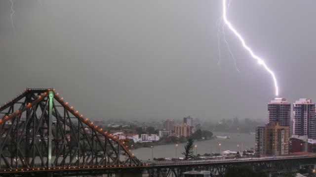 Extreme Weather Brisbane Superstorm Timelapse, Australia, in 4K