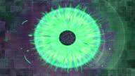 eye Konzept der digitalen Zukunft