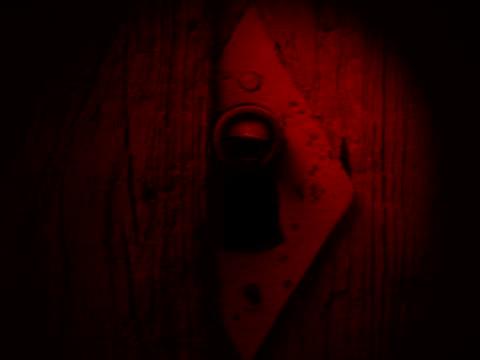 eye in a keyhole