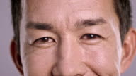 Eyes of a flirty Asian man