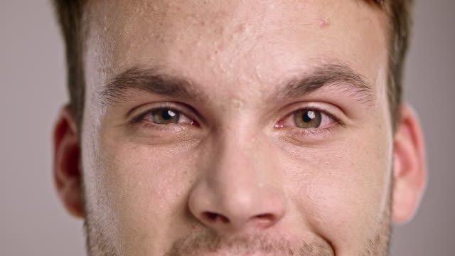 Eyes of a young Caucasian man