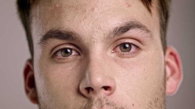 Eyes of a young man