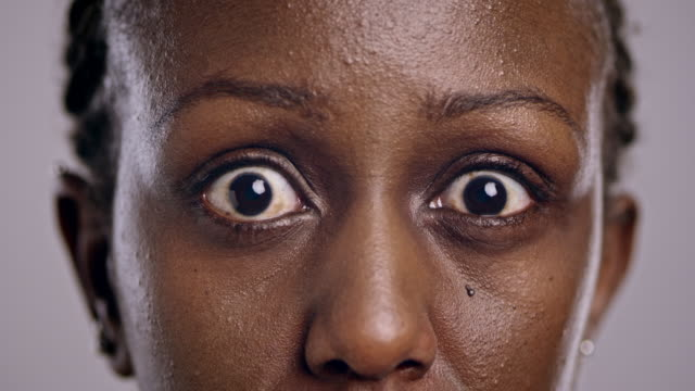 Eyes of an angry African-American woman