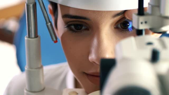 Eyesight exam.