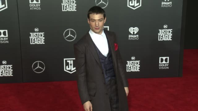 Ezra Miller at the 'Justice League' World Premiere at Dolby Theatre on November 13 2017 in Hollywood California