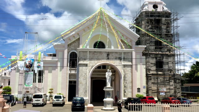 Facade view of Cathedral in Bohol island