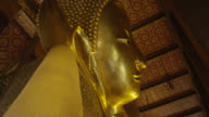 LA MS face of the Reclining Buddha, side view, RED R3D 4K