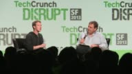 Facebook founder billionaire talks tech at Tech Crunch 2013 Facebook founder Mark Zuckerberg at Tech Crunch 2013 Conference on September 11 2013 in...