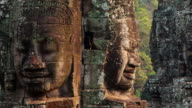 Face-towers. Upper terrace. Bayon Temple. Angkor.