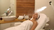 Facial Beauty Treatment with Steam