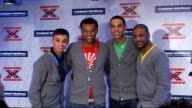 X Factor finalists perform at impromptu gig 11208 London Carphone Warehouse Factor finalists band JLS pose for photo opportunity X Factor finalist...