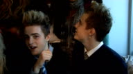 'X Factor' live show launched X Factor groups group interview Kandy Rain Miss Frank and Jedward SOT Jedward on being celebrities worked with some...