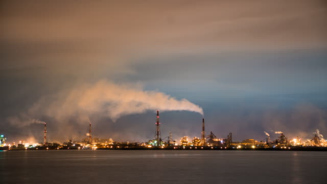 Factories working at night