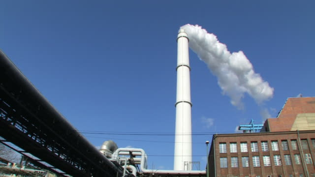 Factory - Industrial steam smokestack