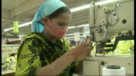Factory workers in textile factory in Bangladesh