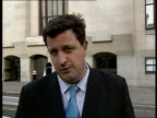 Faisal Wangita jailed for gangland attack ENGLAND London Old Bailey EXT Reporter to camera