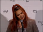 Faith Evans at the 1999 American Music Awards press room at the Shrine Auditorium in Los Angeles California on January 11 1999