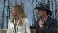 Faith Hill and Tim McGraw at the 'Good Morning America' show studio in New York on 2/8/2012