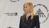 Faith Hill on being able to sing with Benny playing piano tonight at the 25th Annual Rock And Roll Hall Of Fame Induction Ceremony Press Room at New...