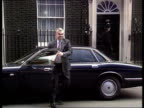 Fall in inflation Downing St MS Norman Lamont MP out of car PAN LR and towards No 10 TX