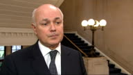 Iain Duncan Smith interview ENGLAND London INT Iain Duncan Smith MP interview SOT