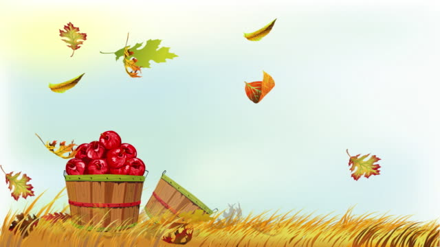 Fall Leaves and Apples
