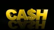 Fallenden'CASH'vom Sky 3D-Drop
