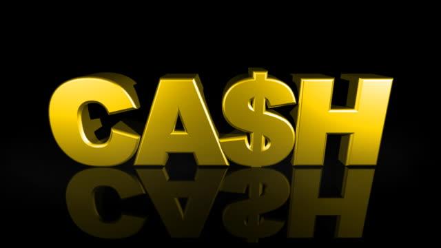 Falling 'CASH' from Sky 3D Drop