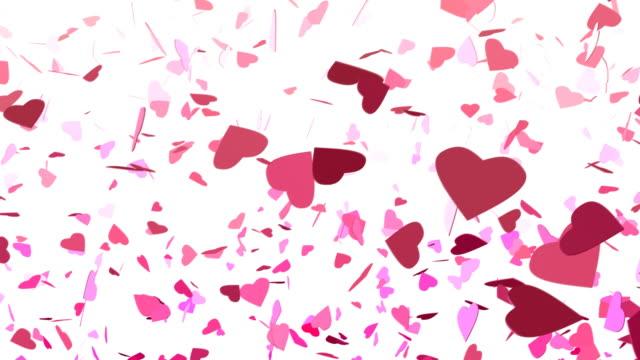 Fallenden Konfetti Herzen