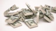 4K Falling Dollar Stack