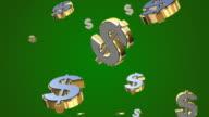 Fallenden Dollar 3D