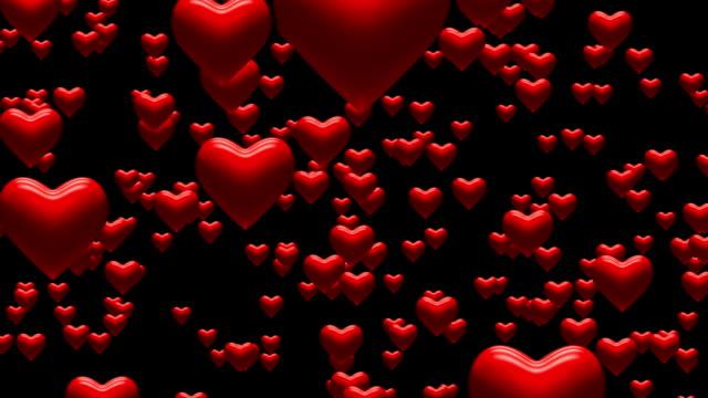 Fallende Herzen