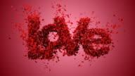 Falling in Love mit schönen roten Hintergrund (Konzept