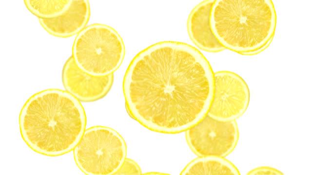 Falling lemon slices