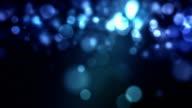 Fallenden Partikel Loop-Blau (HD 1080