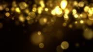 Falling Particles Loop - Golden