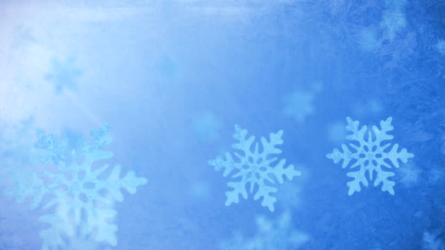 Falling Snow Flakes - Winter Background