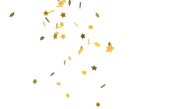 Falling Stars Background - Golden Yellow (HD)
