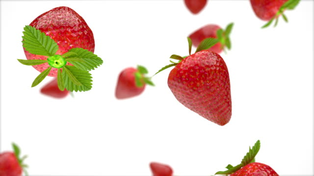 Falling Strawberries background