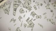 Falling U.S. Dollar Bills