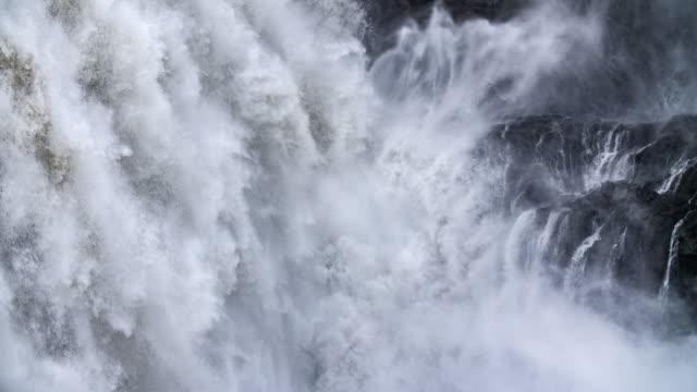 SLOW MOTION: Falling Water - Dettifoss Waterfall -Iceland