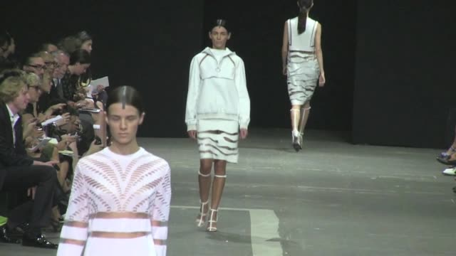 Famed wife of director Rupert Sanders and former model Liberty Ross walks the runway at Alexander Wang's Fashion Show during the MercedesBenz Fashion...