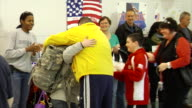 Families Greet Returning Soldiers on March 21 2012 in Baltimore MD