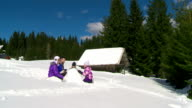 HD CRANE: Family Building A Snowman